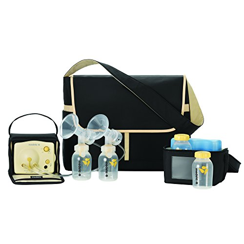 (Medela Pump in Style Advanced Breast Pump, Double Electric Breast Pump Kit, Portable Battery Pack, Stylish Microfiber Messenger Bag, Removable Cooler, Contoured Ice Pack, Bottles,2 Breast Shield Sizes)