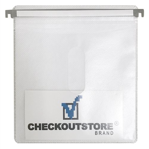 CheckOutStore 100 CD Double-sided Refill Plastic Hanging Sleeve - White