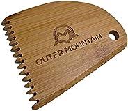 Outer Mountain Surfboard Wax Comb - Bamboo Surfboard Wax Scraper & Surf Wax Rem