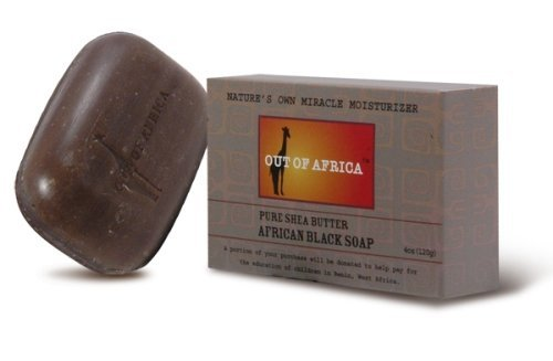 Pure Shea Butter Bar Soap, African Black, 4 oz (113 g) - Out of Africa by Out Of Africa