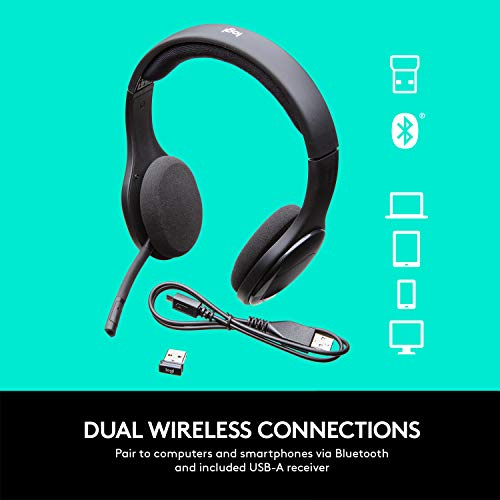 Logitech H800 Bluetooth Wireless Headset With Mic For Pc Tablets