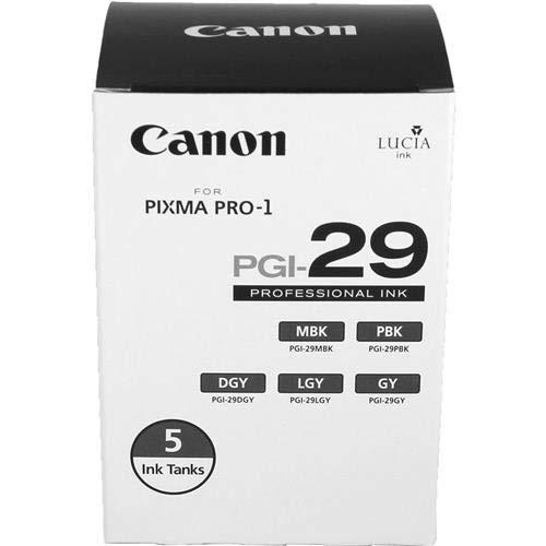 (Canon PGI-29 LUCIA Series Monochrome Ink Tanks - Five Monochrome Pack)