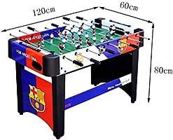 Futbolines Mesa De Juego Interior Máquina De Fútbol De Mesa Azul Estándar para Niños Adultos 8, Juguetes Mesa De Fútbol Grande Regalos Máquina De Fútbol del Centro Comercial 120 Cm Juguetes y