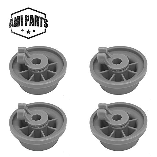 165314 Dishwasher Lower Rack Wheel Replacement Part by AMI ,Suitable for Bosch & Kenmore Dishwashers ,To be able to replace 420198 AP2802428 423232 (4pcs)