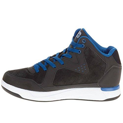 E1 Scarpa Uomo Ambassador Basket Nero E Blu Altezza 9,5 M