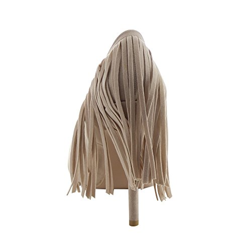 Pointed Color CHLOE CHASE Fringe Pumps Dress 7 5 Heel Toe NUDE Womens Size PLAZA Stiletto 5 amp; gwp7X