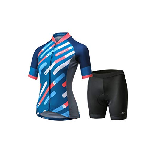 - Mysenlan Women's Cycling Jersey & Shorts Set 3D Padded Short Pants Short Sleeve Breathable Bike Shirt Bicycle Clothing Blue