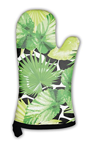 Gear New Oven Mitt, Tropical Palm Leaves Pattern, GN4063