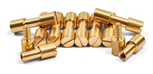 10 Pack of Brass Corby Fasteners, 1/4