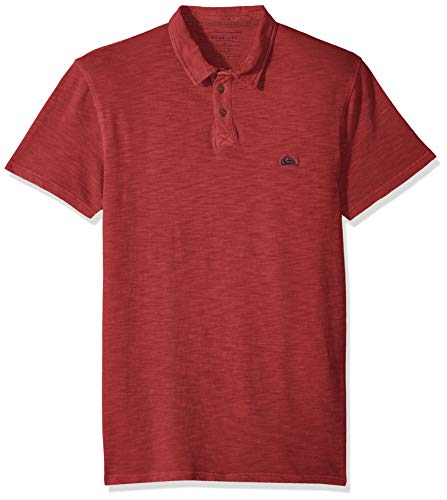 Quiksilver Up Shirt Button - Quiksilver Men's Everyday Sun Cruise, Brick red, M