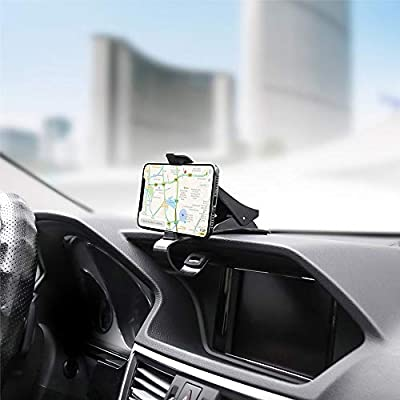 EXSHOW Dashboard Car Phone Clip Holder, Dashboard Cell Phone Mount Suitable for 11 Pro Xs Max XR X 8 7 Galaxy S20 Ultra S20+ Note 10 10+ S10 S9 and Other 4