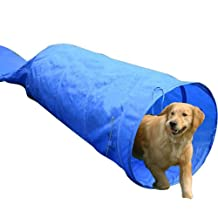 PawHut 5663-1308 16.4' Dog Tunnel Portable Agility Training and/or Soft Crate Kennel Run Cage
