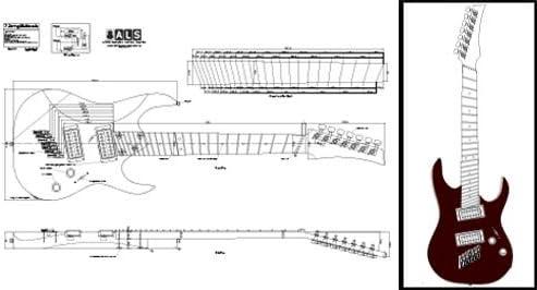 7-string multiscale Plan de guitarra eléctrica – escala completa ...