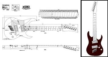 7-string multiscale Plan de guitarra eléctrica – escala completa impresión