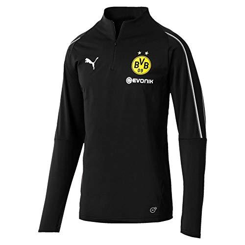 PUMA 2018-2019 Borussia Dortmund Half Zip Training Top (Black) – DiZiSports Store