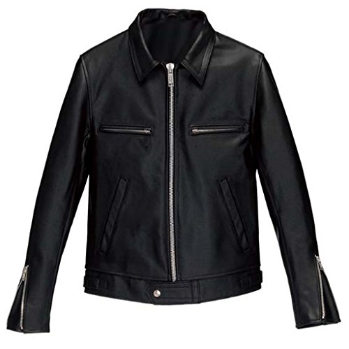 Western Leather Clothing (Western Leather Men's Lambskin Leather Bomber Biker Jacket Medium)
