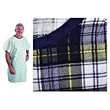 SnapWrap Deluxe Adult Patient Gown BLUE PLAID