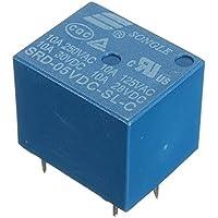 10Pcs Mini 5V DC Power Relay SRD-5VDC-SL-C 5 Pin PCB Type