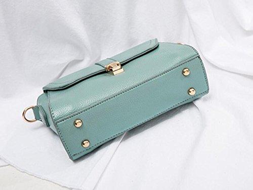 cierre con simple bolsa Nueva moda bolso bolsa bolso bolso cuadrado cartera zqvqUx