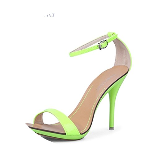 (Dancing High Heel Sandals/Party Wedding Shoes//Wholesale and Retail,Fluorescent)
