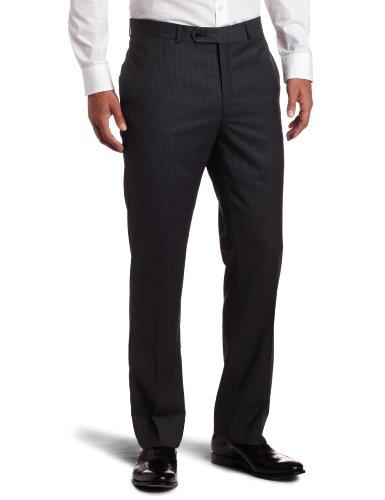 Tommy Hilfiger Men's Flat Front Trim Fit 100% Wool Suit Separate Pant