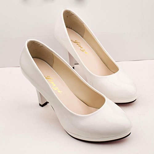Transer® Clasic Sandals Nude Shoes Slip Office Women Heel Ladies Elegant High Wedding Work White Shoes Mouth Shallow on Shoes ZZpwd4qxrA
