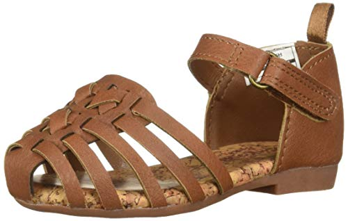 OshKosh B'Gosh Halle Girl's Strappy Sandal, Brown 6 M US Toddler ()