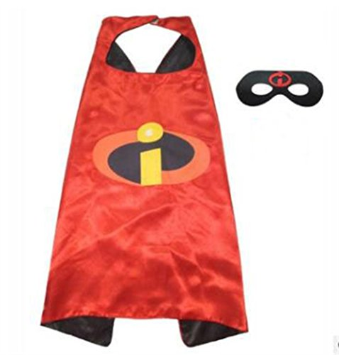 NYKKOLA Cartoon Dress Up Costumes Satin Capes with Felt Masks for Children Boy and Girl (NO.6) (NO.17)