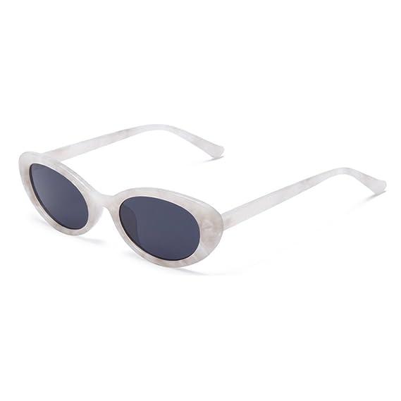 Juleya gafas de sol ovaladas Vintage marco de plástico ...