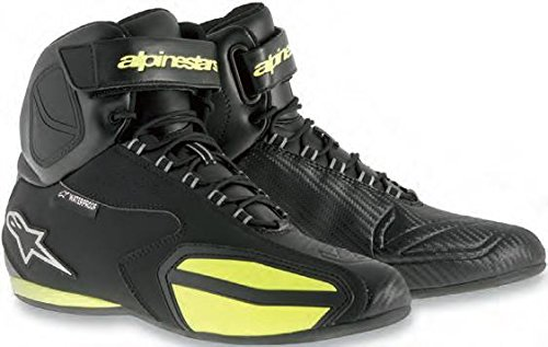 Alpinestars Faster Men's Waterproof Street Motorcycle Shoes - Black/Yellow / 7