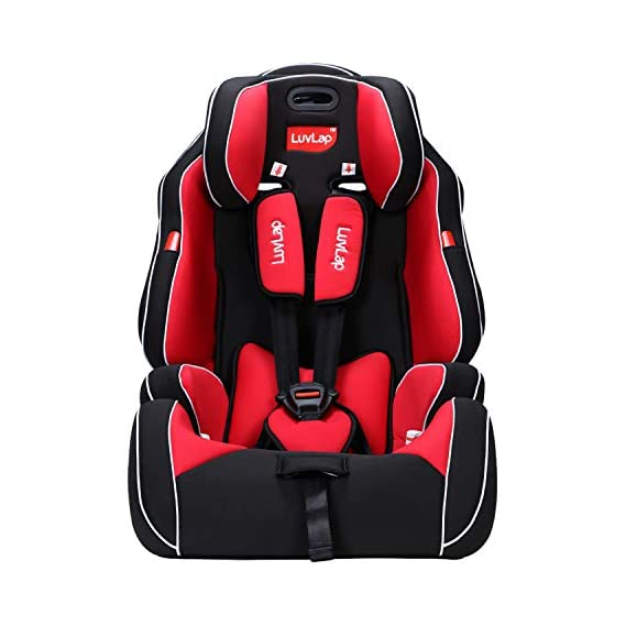 LuvLap Premier Car Seat for Baby & Kids from 9 Months to 12 Years (Red)