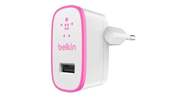 Amazon.com: Belkin Cargador de pared rosa 2.1 A, f8j052vfpnk ...