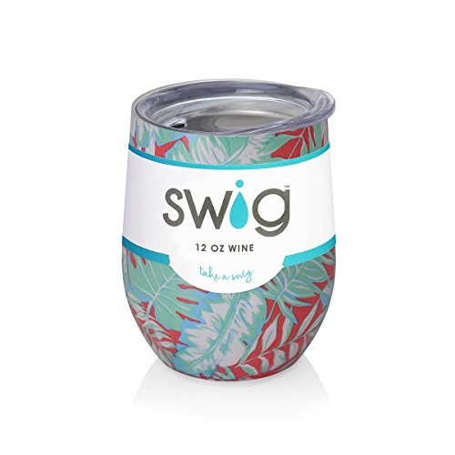Occasionally Made Swig Wine Cup, 12 ounces (Island Palms)