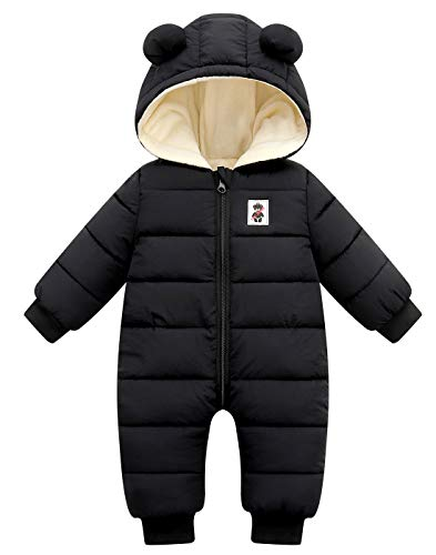 Maeau Baby sneeuwpak met capuchon baby overall winter rompers winter baby speelpak baby winter kleding baby jongens…