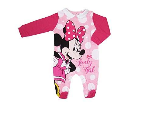 Disney Tutina neonata Minnie Mouse Maniche Lunghe, in Cotone a Pois - Art. 46365 1