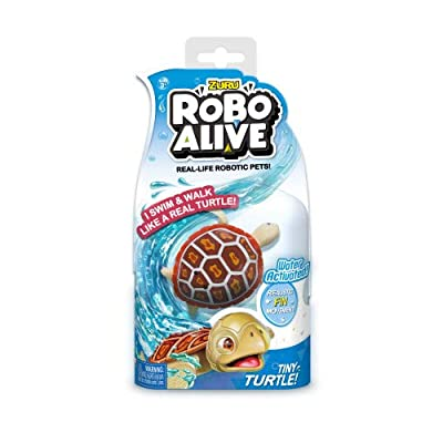 New Zuru Robo Alive Little Fish Collection Real-Life Robotic Pets - Water Activated LITTLE CLOWNFISH - Swims like a Real Fish an: Toys & Games