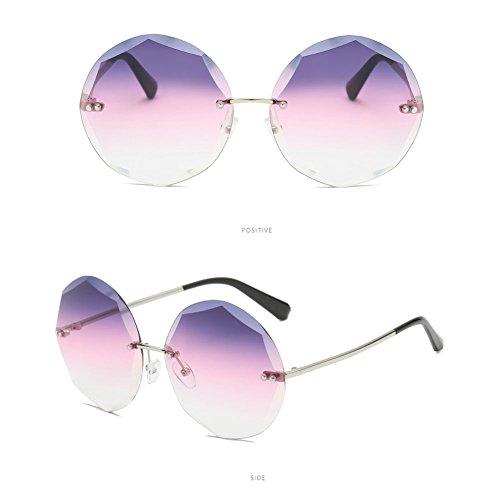 Mujeres Trim Gafas Lenses Gradientgrey Moda Gafas 65 Mm Sol Frameless Z Gradientpurplepink Gran Poligonales amp;HA Marco Wide Personalidad De p5qnYRxt4w