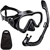 WACOOL Snorkeling Snorkel Package Set for Kids Youth Junior, Anti-Fog Coated Glass Diving Mask, Snorkel with Silicon…