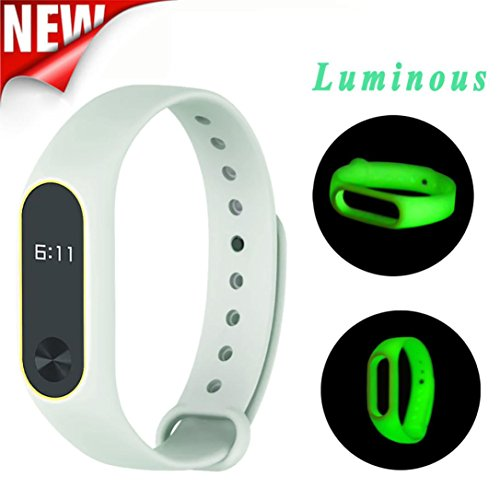 Featurestop Luminous Soft Silicon Wrist Strap WristBand Replacement For XIAOMI MI Band 2
