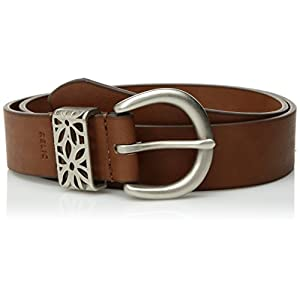 Relic Womens Flower Perforated Keeper Belt
