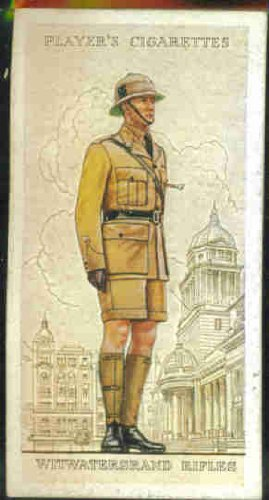 Witwatersrand Rifles 1938 Player Cigarettes Military