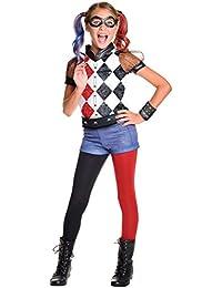 DC Superhero Girl's Harley Quinn Costume, Medium