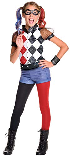 Halloween Costume Ideas With Cardboard (Rubie's DC Superhero Girl's Harley Quinn Costume, Large)