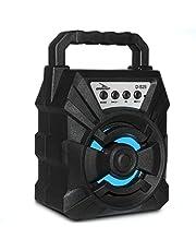 Caixa De Som Bluetooth 10W Rms Grasep D-S25 MP3 Portátil Led Colorido Rádio Fm com entrada USB Pen Drive MicroSD Cartão De Memória P2 Auxiliar