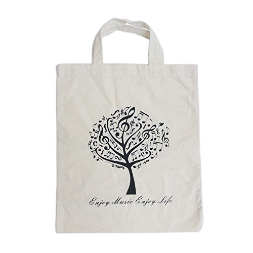 Tote Bag Handmade from Pure Cotton Handbag Shopping Bag Gift (MG-2-White)