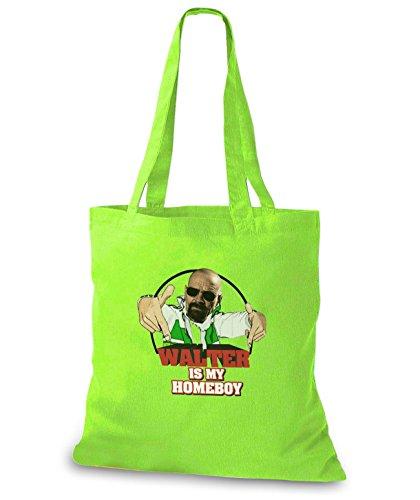 StyloBags Jutebeutel / Tasche Walter is my Homeboy Lime xX5yIw9ewJ