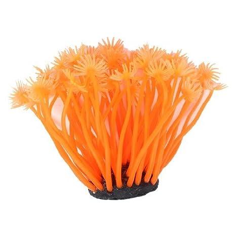 Acuario base de cerámica naranja de silicona Coral Planta Decoración 3.1 Altura: Amazon.es: Productos para mascotas