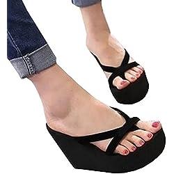 Meilidress Fashion women Casual Summer Platform Shoes Wedges Flip Flops Outdoor Slippers