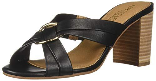 (Aerosoles Women's HIGHWATER Heeled Sandal, Black Leather, 8.5 M US)