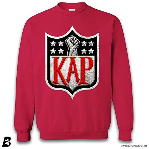 014f9fd37 ''Colin Kaepernick KAP Classic' Premium Unisex Sweatshirt (Cherry Red, 2XL)
